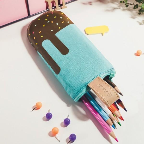 Donkey - Pencil Pops - Choco Loco - Federmäppchen - blau,braun - in Form eines Eis am Stil - c
