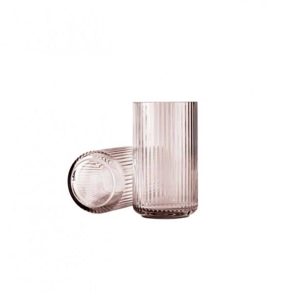 Lyngby - Vase - 25 cm - ca. 25x15x15 cm - Glas - burgund - rose