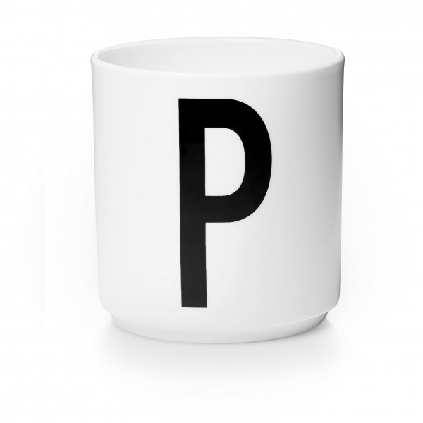 Design Letters - Arne Jacobsen - Porzellan Cup/Becher P - 9,0x8,3 cm (HxØ)