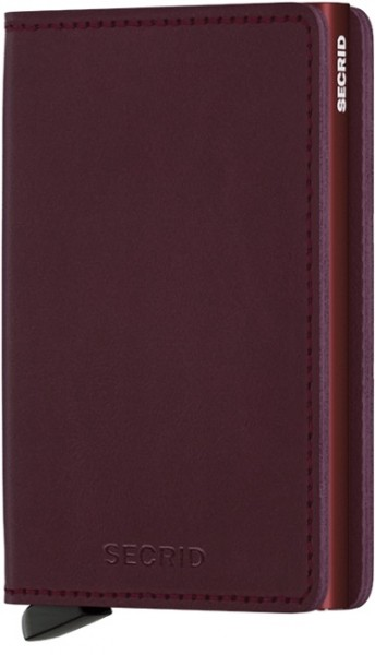 Secrid - Slimwallet - Original - bordeaux - Schutz für Magnetkarten, EC-Kreditkarten - Leder, Alumin