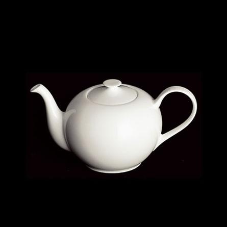 Dibbern - Classic - Teekanne - rund - 0,90 l - weiß - Fine Bone China