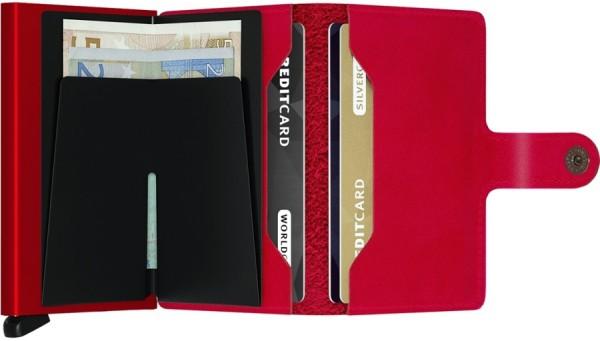 Secrid - Miniwallet - original - red-red - rot - Schutz für Magnetkarten, EC-Kreditkarten - Leder, A
