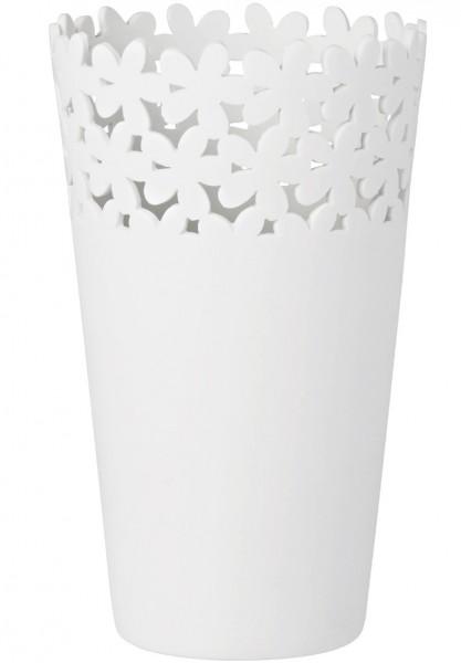 Räder - WEISSheiten - Vase - Blüten - weiß - ca. 18x10,5 cm (HxD) - Porzellan
