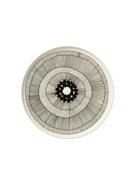 Marimekko - SIIRTOLAPUUTARHA - Teller - Ø 25 cm - weiß,schwarz,schwarz