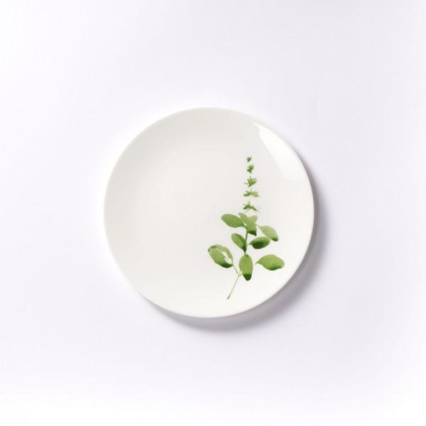 Dibbern - Sweet Herbs - Teller - flach - 21 cm - Basilikum