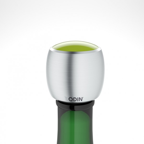 Odin - CHAMPIAN - Sekt-Champagnerverschluss - Edelstahl gebürstet hellgrün