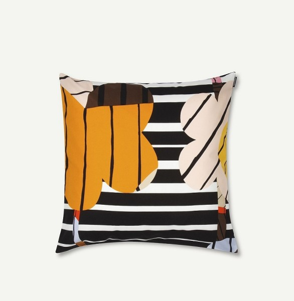 Marimekko - SOMMAR - Kissenbezug - 50x50cm - white, brown, yellow, black