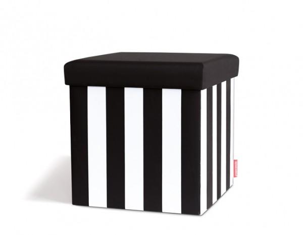 Remember - Sitzbox - Black&White - 38x38x38cm - bis 100kg belastbar