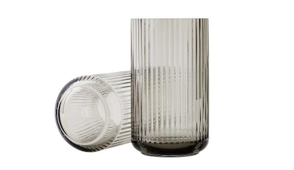 Lyngby - Vase - 25 cm - ca. 25x10x10 cm - Glas - smoke,rauch - mundgeblasen