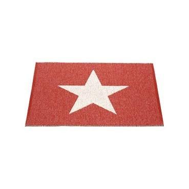 Pappelina - Teppich Viggo One Red/Vanilla, 70 x 90 cm
