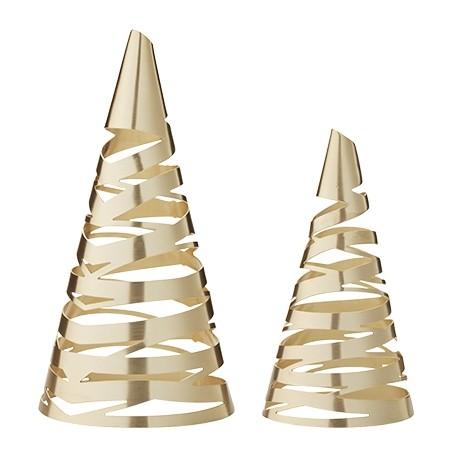 Stelton - Weihnachten - Tangle - Weihnachtsbaum, M & G, 2 Stk. - H:11 +15 , Ø:6,1 + 8,2 cm
