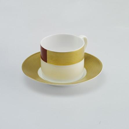 Fine Bone China Dekore ntere zylindrisch 0,25 l Pure Goldzu