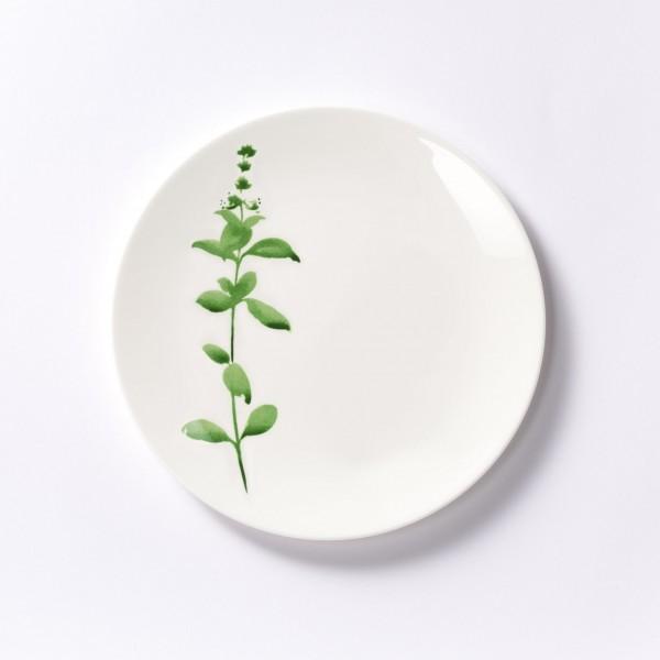 Dibbern - Sweet Herbs - Teller - flach - 28 cm - Basilikum