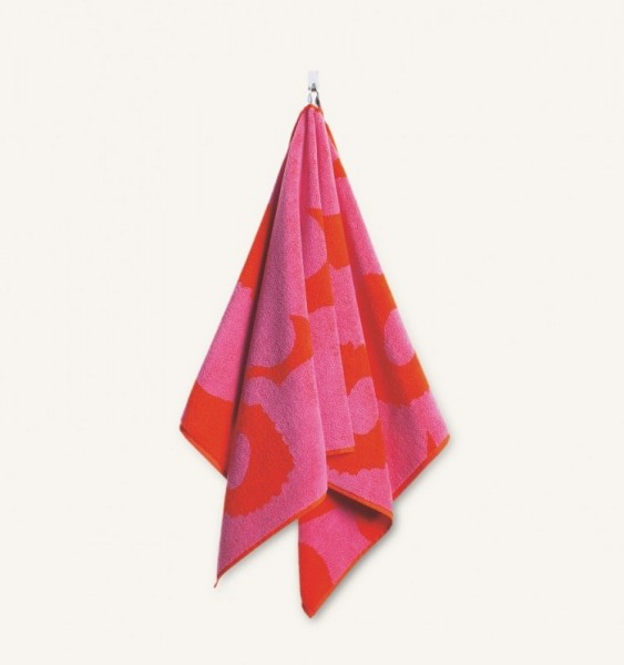 Marimekko - Unikko - Handtuch - 75x100 cm - rot-pink - Bio-Baumwolle - Maija + Kristina Isola