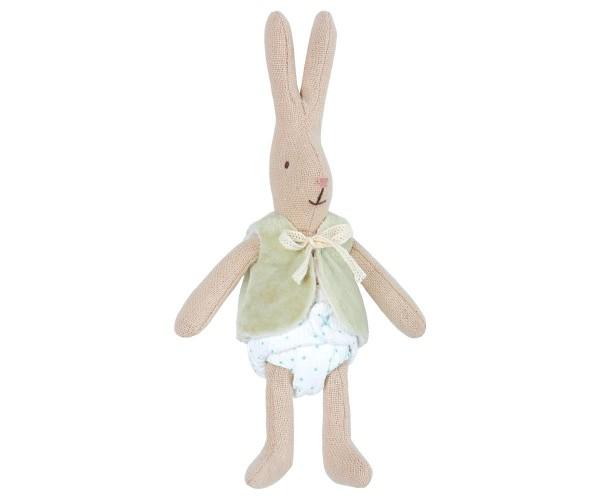 Maileg - Hase - Mädchen mit Weste - XS - ca.16cm - Baumwolle,Polyester
