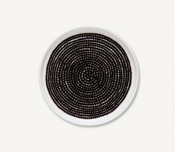 Marimekko - RÄSYMATTO - Teller - 13,5 cm - weiß, schwarz - Maija Louekari