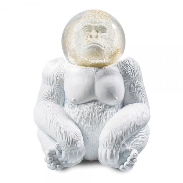 Donkey - Summerglobe - Gorilla - Glitzerkugel mit weissem Gorilla - ca. 15x11,5cm (LxB)