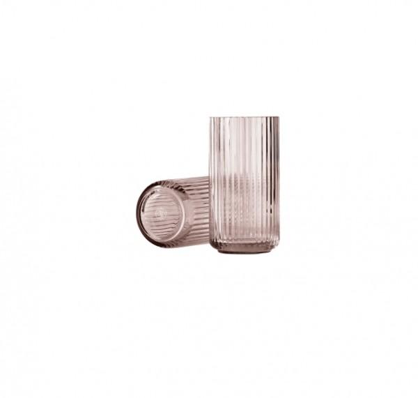 Lyngby - Vase - 20 cm - burgund - 20x10x10 cm - mundgeblasenes Glas