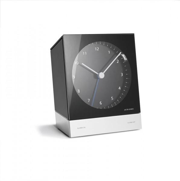 Jacob Jensen - Alarm Clock Analog Funk - schwarz - Funkuhr - Funkwecker - 103x45x125mm