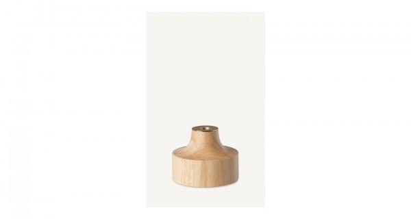 Marimekko - STÄMPEL - Kerzenhalter - hellbraun, naturfarben - 10,5x14,5 cm (HxB) - Mittelstück herau