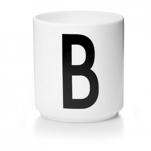 Design Letters - Arne Jacobsen - Porzellan Cup/Becher B - 9,0x8,3 cm (HxØ)