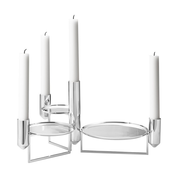 Georg Jensen - Tunes - Kerzenhalter - Basicelement - ca. 326x220x174 (HxBxT) mm - Edelstahl, hochgla