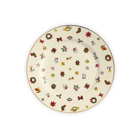 Teller zum täglichen Gebrauch, Dekoration,Aufbewahrung etc. Hochwertiges Porzellan mit weihnachtlich