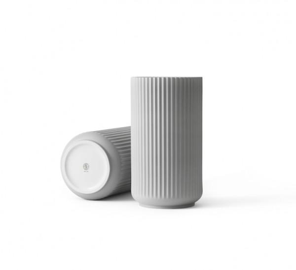 Lyngby - Vase - 25 cm - hellgrau - ca. 25x15x15 cm - Porzellan