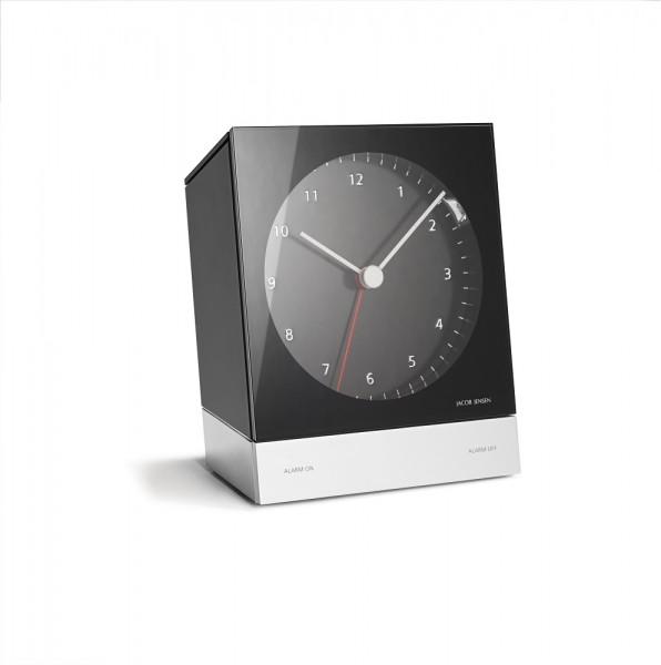 Jacob Jensen - Alarm Clock - Analog Quartz Wecker - schwarz - 13x45x125mm