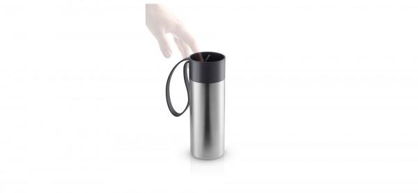 Eva Solo - To Go Cup - Becher - Thermoflasche - 0,35 l - schwarz - Trageschlaufe - ca.20x6,5 cm (HxD