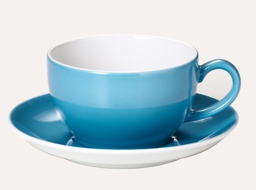 Dibbern - Solid Color - Kaffee Untertasse - Vintage Blue .