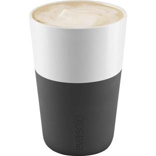 Eva Solo - Caffé Latte-Becher - 0,36 l - carbon schwarz - 2 Stück