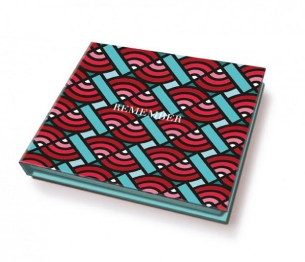 Remember - Memolino - Redwave - ca. 11x9,5x1,7cm - 200 Haftetiketten, 1 Kugelschreiber