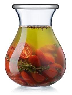 Die Delikatessen- und Vorratsgläser sind mundgeblasene gläser mit einem dicht schließenden Edelstahl