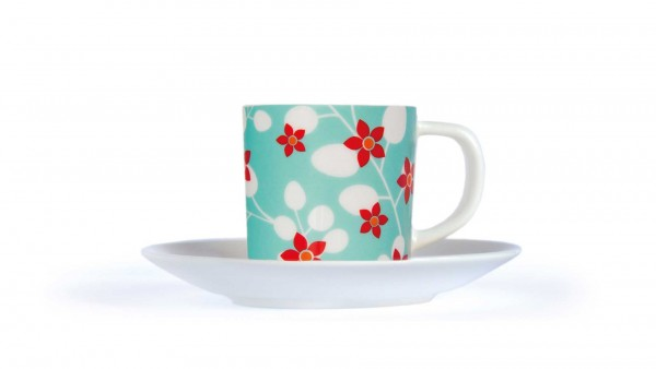 Remember - Espressotasse+Unterteller - Primavera - Fine Bone China Porzellan