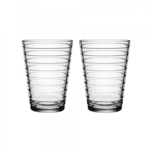 iittala - Aino Aalto - Glass - 33 cl - Klar - 2 stück - Des.: Aino Aalto