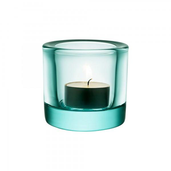 iittala - Kivi - Windlicht + Kerzenhalter - 60 mm - wassergrün