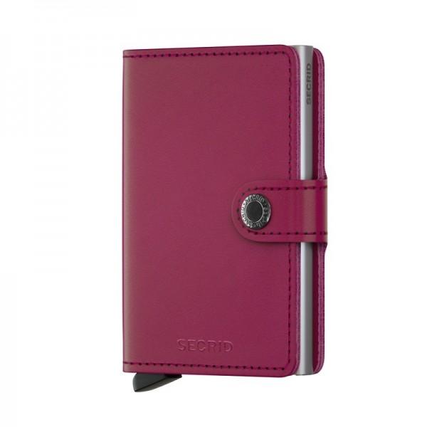 Secrid - Miniwallet - original - fuchsia - Schutz für Magnetkarten, EC-Kreditkarten - Leder, Alumini