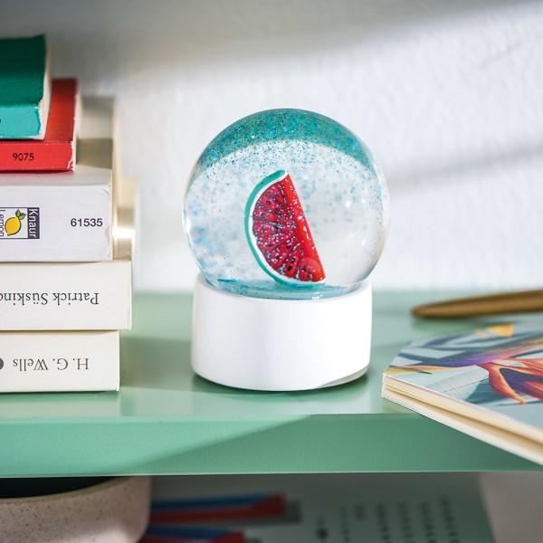 Donkey - Summerglobe - Watermelon - Glitzerkugeln mit Wassermelonen Motiv - ca. 8,5x6,2 cm (LxB)