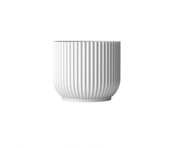 Lyngby - Blumentopf - medium - weiß - ca. 18x18x16 cm - weiß - Porzellan handgefertigt