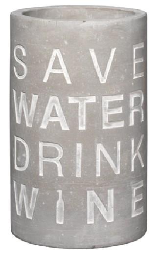 Räder - Poesie et table - Vino - Beton Flaschen-Weinkühler - Save water drink wine