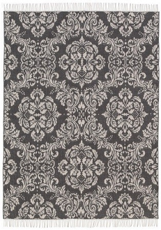 Persia - Lammwollplaid - doubleface-jacquard - 101 - 135x195 - Ornamente+Fransen (100%Lammwolle)