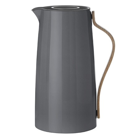 Stelton -Emma -Isolierkanne - Kaffee 1,2 L - grau - Dess.: Holmbäck & Nordentoft