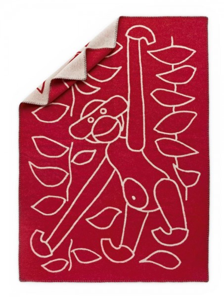 Kay Bojesen - Decke, rot-weiß - 120x80 cm - Lammwolle, jacquard gewebt