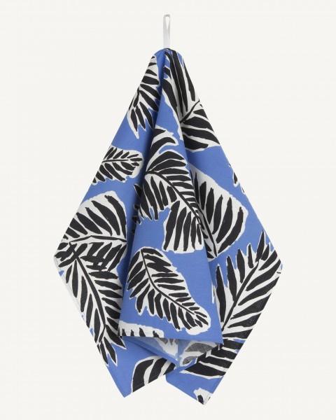 Marimekko - BABASSU - Küchenhandtuch - ca. 47x70cm - blue, black, off-white - Erja Hirvi
