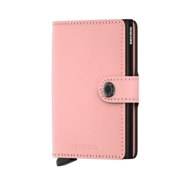 Secrid - Miniwallet - pink, matt - Schutz für Magnetkarten, EC-Kreditkarten - Leder, Aluminium - 65x
