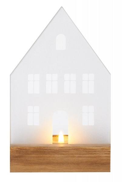 Räder - WINTERZEIT - Glastraum Haus - Windlicht - ca.8x7x13cm