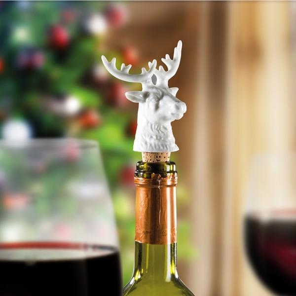 Donkey - Rentier - Weinstopper + Flaschenverschluss aus Porzellan und Kork
