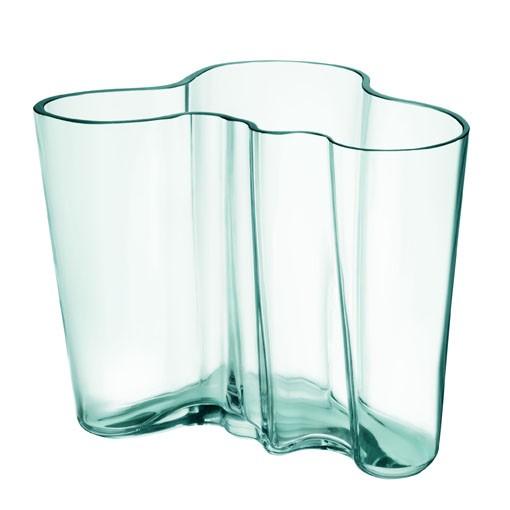 iittala - Aalto Vase - 160 mm - wassergrün - ca.12x 15x12,5cm (HxBxT) - mundgeblasen