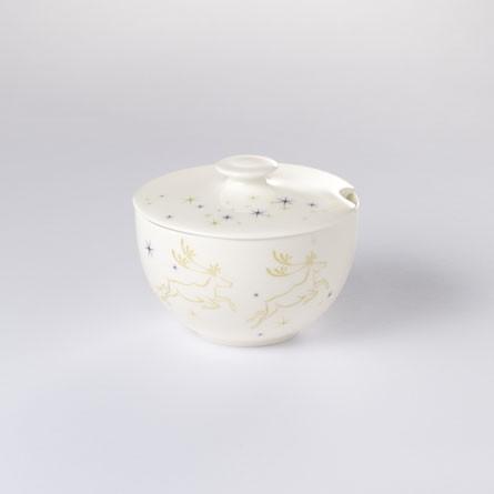 Dibbern - Christmas - Zuckerdose - rund - 0,25 L - Fine Bone China Porzellan